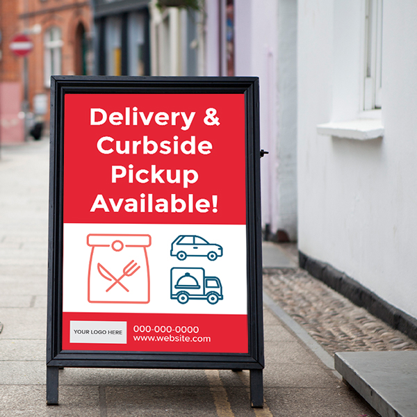 COVID-Signage Pick-up for Resturaunt
